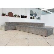 Milano sofa 'specchio light grey'
