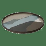 Graphite Wabi Sabi Glass Tray - ø 92 cm