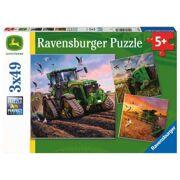 Puzzel John Deere In Actie 3 x 49 stuks - RAV 051731