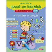 Boek Reuzeleuk speel- en leerblok Ik leer tellen en schrijven (5 - 6 jaar) - Deltas 0623017