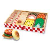 Melissa & Doug houten set voor sandwiches maken