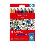 Caran D'Ache - School Line Watersoluble Pencils - 18 stuks
