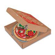 Melissa & Doug voedsel van vilt pizzaset