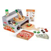 Houten Speelset pizzaoven met pizza - MD19465
