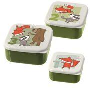 Set met 3 snackdoosjes Woud