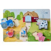 Houten puzzel Op de boerderij 6 stuks - HABA 306289