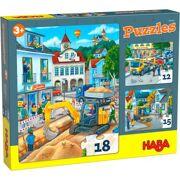 Puzzels In de stad 12-15-18 stuks - HABA 306479