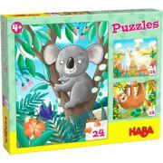 3 Puzzels Koala, Luiaard & Co. 3 x 24 stuks - HABA 306480