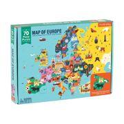 Puzzel Kaart van Europa 70 stuks - Mudpuppy 355194