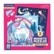 2 Magneetpuzzels Magische Eenhoorn - Mudpuppy 355566