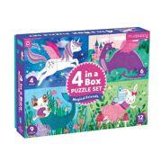 4 puzzels in een doos Magische Vrienden 4-6-9-12 stuks