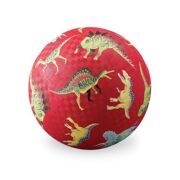 Rubberen Speelbal Dinosaurussen rood 18 cm