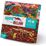 Puzzel Above and Below Dinosaur World 48 stuks - Crocodile Creek 3876004