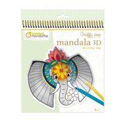 Kleurboek Graffy Pop Mandala 3D Dieren van de Savanne