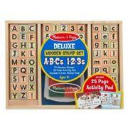 Deluxe houten stempelset ABC 123 - Melissa & Doug 40118