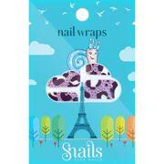 Snails Nail Wrap - Purple Zebra