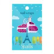 Snails Nail Wrap - Pink Stars