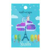 Snails Nail Wrap - Pink Zebra