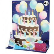 Popshots Muziek Wenskaart Balloons and Cake - DEC POPSS010