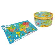 XXL Puzzel 150 stuks: Wereldkaart - Scratch 6181076