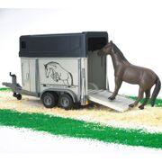 Bruder - Paardentrailer met 1 paard