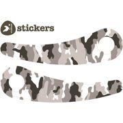 Wishbone stickers Camo zwart-wit