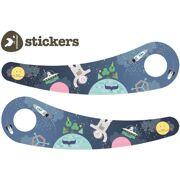 Wishbone stickers Space