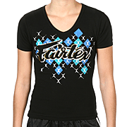 Fairtex Script Tee V-Neck Ladies