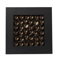 NOTUS - cadre déco spirale - bois - brun - 60x6x60