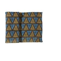 BOSSA - dble set triangle  - 100% jute - navy -40x140 cm