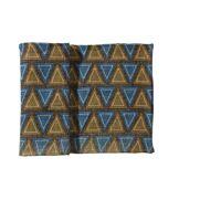 BOSSA - tafelloper met driehoeken - 100% jute - navy -40x140 cm