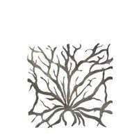LAGON - set 2 cadre corail - metal - 52x52 cm