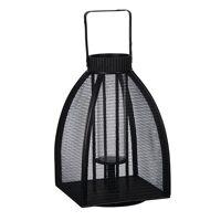 KABUKI - Lantern - bamboe/metal - black - M - 29x29x45cm