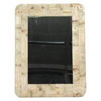 LIVIA - spiegel - gerecycleerd dennehout - 76,5x102x2 cm