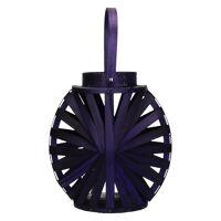 CHAMADE - lantern - wood - poplar - purple - DIA 17 x H 30 cm