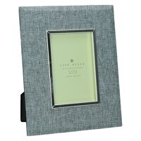 ZUANI -  Cadre photo - tissu gris - métal - 10 x 15 cm