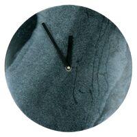 ALYON - Klokken - zwart monobloc marmer - grijs - Ø 25 x 3 cm
