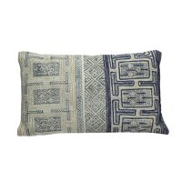 KHOTAN - cushion - cotton stone washed - natural/blue - 30x50cm
