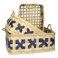 ANJÓ - set/3 baskets - bamboo - L 34/38/44 x W 25,5/31/35 x H 15/16/18 cm - natural