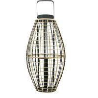OTARU - lantaarn - bamboe - L 34,5 x 34,5 x 66 cm - zwart