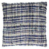 SWEETY - kussen - 100% katoen - zwart naturel blauw - 45x45cm