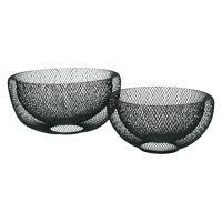KABU - set/2 baskets - metal - DIA 24/29 x H 12/15 cm - black