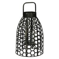 SAMURAI - lantern - metal / glass - DIA 21,5 x H 39,5 cm - pewter
