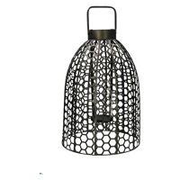 SAMURAI - lantaarn - ijzer / glas - DIA 35 x H 60 cm - tin