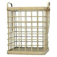 HANDA - set of 3 baskets - bamboo - L 29/35/40 x W 27/33/39 x H 34/40/46 cm  - natural