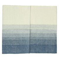 BARCAGGIO - table runner - cotton - indigo/natural - 40x140 cm