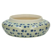 DOMBURG - flower pot - ceramics - blue - Ø27,5xh9 cm