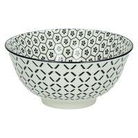 KASHGAR - bowl M  - porcelain - black - D15x7