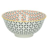 KASHGAR - bol M  - porcelaine - orange - D15x7