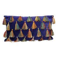 CIRQUE - coussin déco - velours 100% coton - violet - 50x30 cm